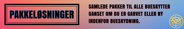 SAMLEDE PAKKER MED BUE OG PIL TIL ALLE BUESKYTTER UANSET OM DU ER GARVET ELLER NY INDENFOR BUESKYDNING