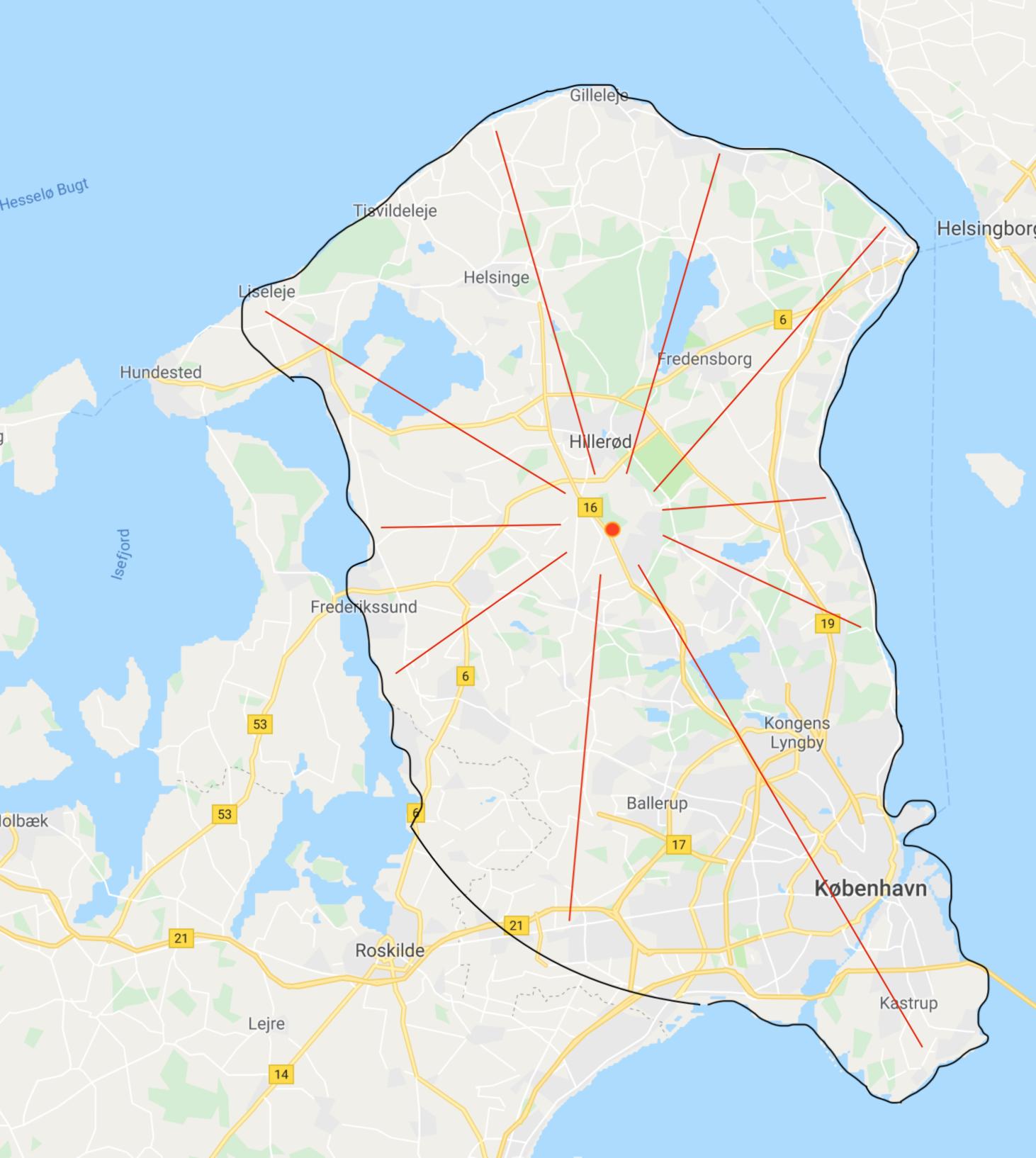 Personlig levering i hele Nordsjælland og Københavnsområdet